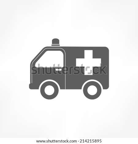 ambulance icon - stock vector