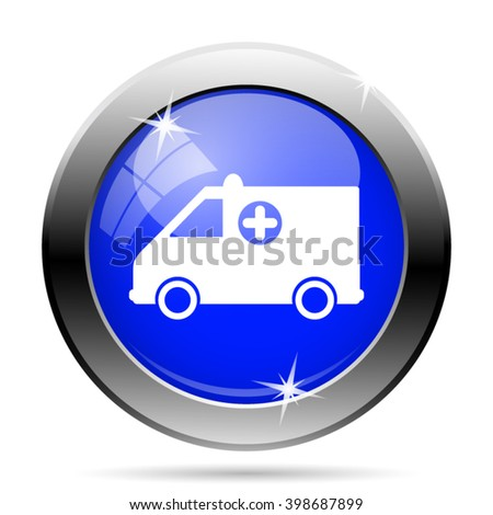 Ambulance icon. Internet button on white background. EPS10 vector - stock vector