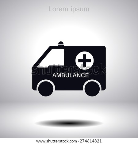 ambulance icon. Vector  Eps 10  - stock vector