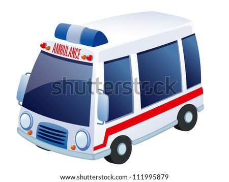 Ambulance vector - stock vector