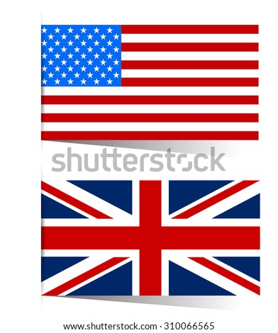 America and Great Britain flag