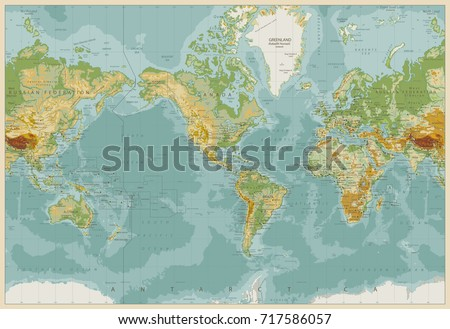 America centered physical world map vintage stock vector hd royalty america centered physical world map vintage stock vector hd royalty free 717586057 shutterstock gumiabroncs Image collections