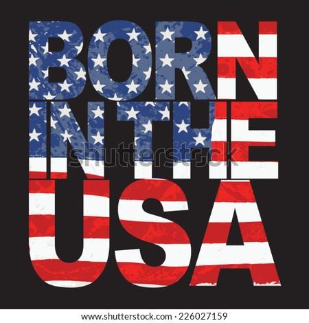 America design , typography, t-shirt graphics, vectors  - stock vector