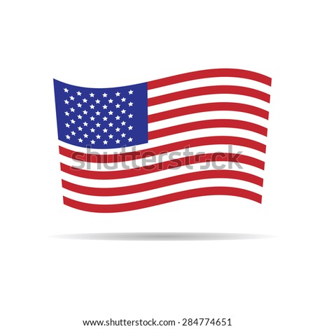America flag independence day vector