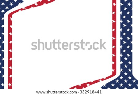 America flag pattern template, vector
