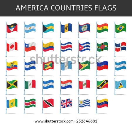 america flag vector - stock vector