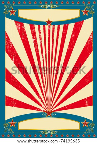 America for ever A vintage american for a poster. - stock vector