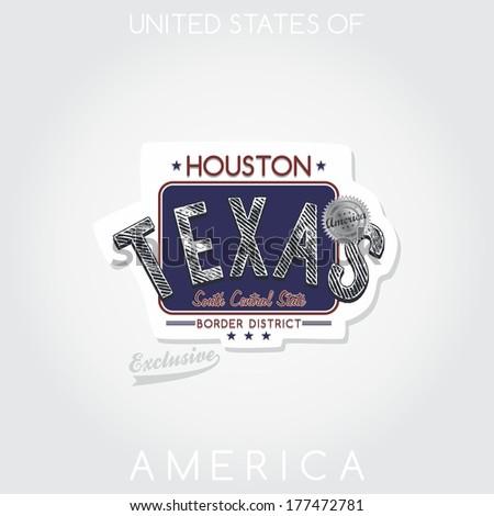 america state emblem texas - stock vector