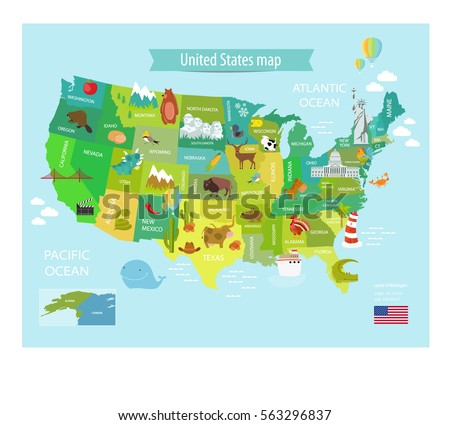 America Vector Map States Us Pets Stock Vector - White house on us map