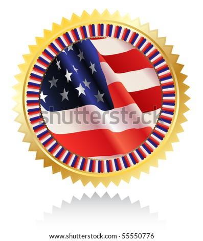 Americal flag - stock vector