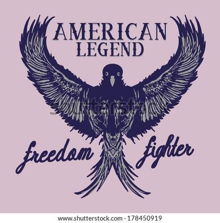 american athletic eagle spirit - stock vector