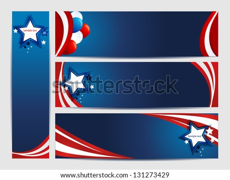 American Background - stock vector