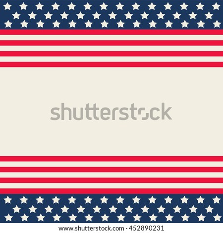 american background design with space for your text vector