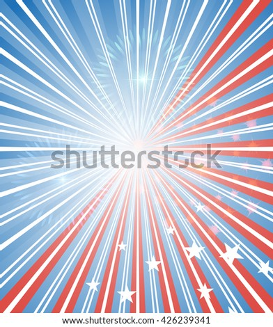 American background . For cards and banners . The colors of the flag . Glare . Vector - stock vector