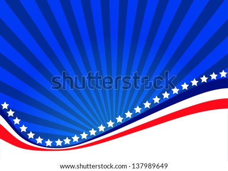American background for Independence Day on July 4 - stock vector
