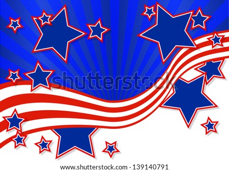 American background for Independence Day on July 4