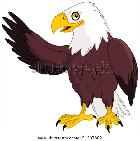 American bald eagle presenting - stock vector