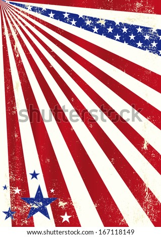 american cool dirty background. A dirty american background for a poster. - stock vector