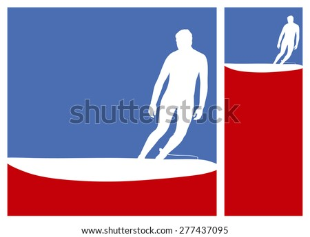 american culture surf frames with surfer riding the wave - stock vector