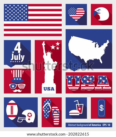 American design elements - stock vector