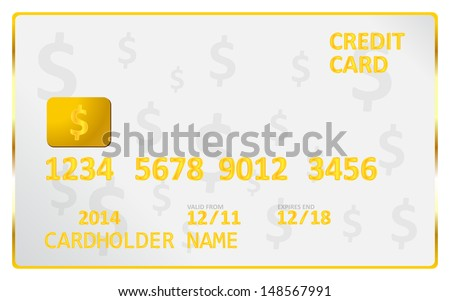 American Dollar Credit Card - stock vector