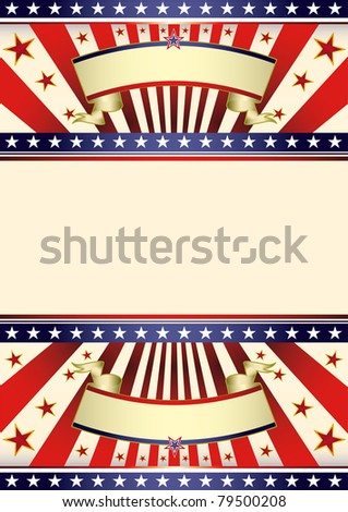 American dream flag. A background for your american poster. - stock vector
