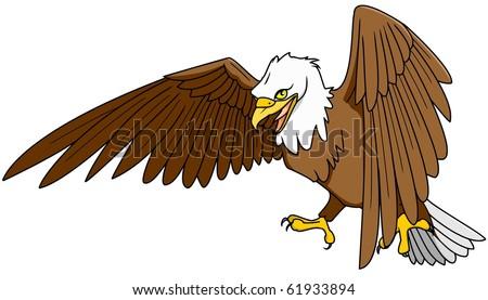 american eagle - stock vector