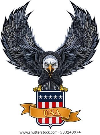 american eagle usa flag stock vector 2018 530243974 shutterstock rh shutterstock com American Eagle Vector USA Eagle Vector Hi-Rez