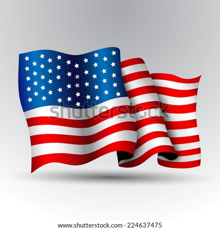 American flag. - stock vector