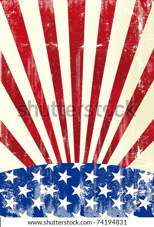 american flag A distressed american flag for a background - stock vector