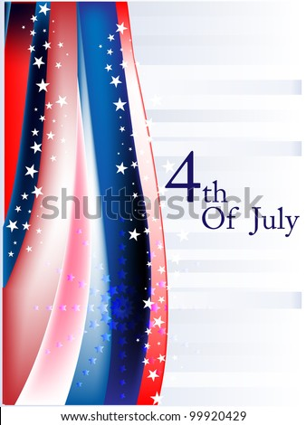 American flag background colors with stars and stripes symbolizing and space for your text for 4th July Independence Day and other events.