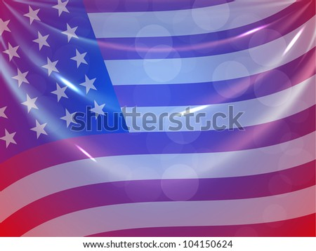 American Flag background for 4th of July American Independence Day and other events or occasions. EPS 10.