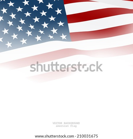 American flag for decorative.Vector background - stock vector