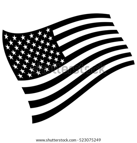 american flag black and white stock images royaltyfree