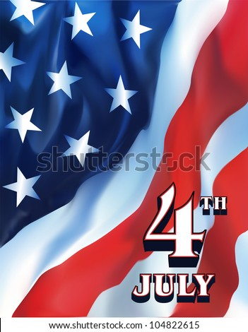American flag -  independence day - stock vector