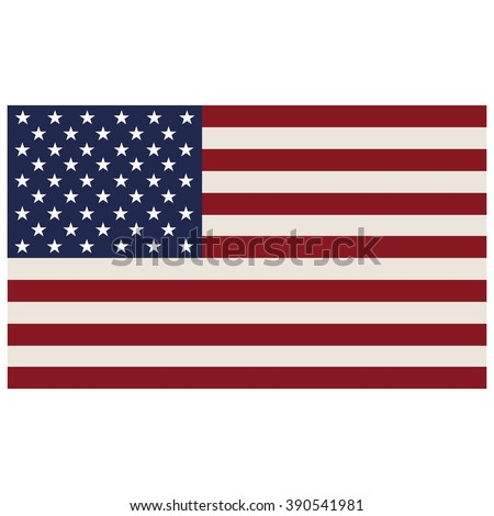 American flag isolated on a white background, vector illustration stylish - stock vector