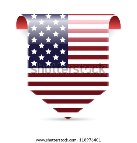 American flag tag vector illustration - stock vector