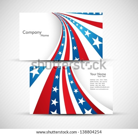 American flag 4th july business card stock vector 138804254 american flag 4th july business card set design vector colourmoves