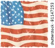 American Flag theme, torn grunge vector background - stock photo