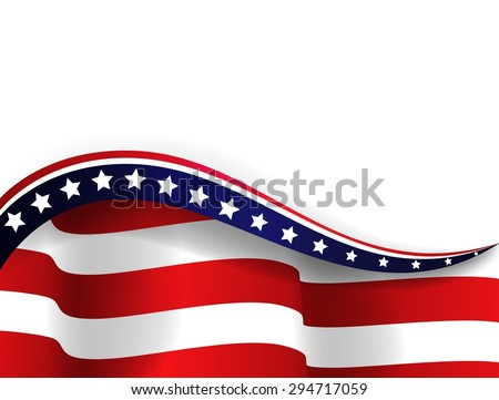 American flag. vector - stock vector