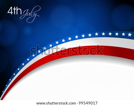 American Flag, Vector background for Independence Day and other events. Illustration in EPS 10.