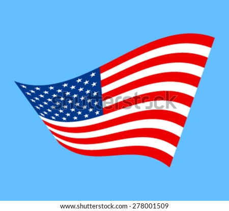 American flag vector icon