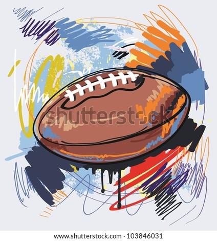 american football - stock vector
