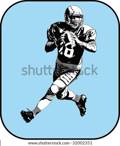 american football - stock vector