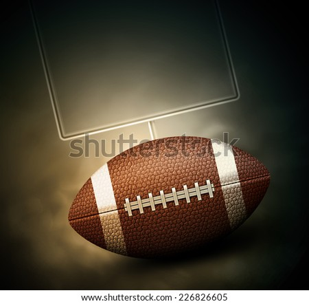 American football background, eps 10 - stock vector