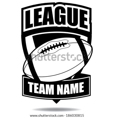 American Football badge icon symbol EPS 10 vector, grouped for easy editing. No open shapes or paths.