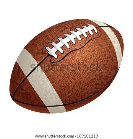 American football ball - stock vector