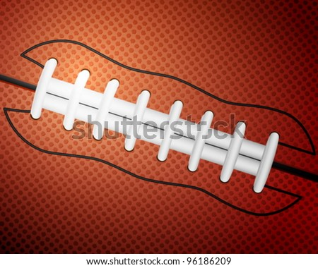 American football ball detail leather texture background. Vector illustration. - stock vector