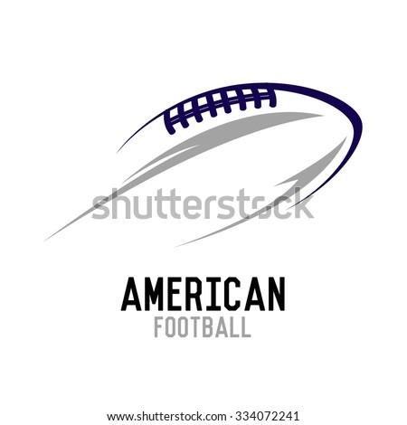 American football ball flying vector illustration - stock vector