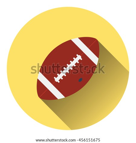 American football ball icon. Flat color design. Vector illustration. - stock vector